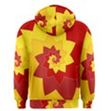 Flower Blossom Spiral Design  Red Yellow Men s Zipper Hoodie View2