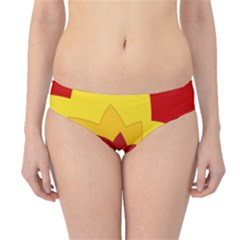 Flower Blossom Spiral Design  Red Yellow Hipster Bikini Bottoms