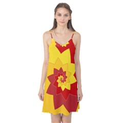 Flower Blossom Spiral Design  Red Yellow Camis Nightgown