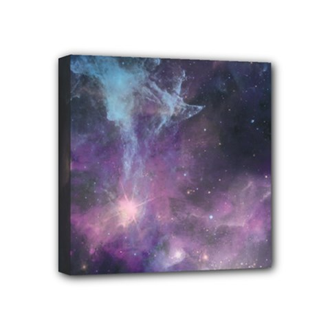 Blue Galaxy  Mini Canvas 4  X 4