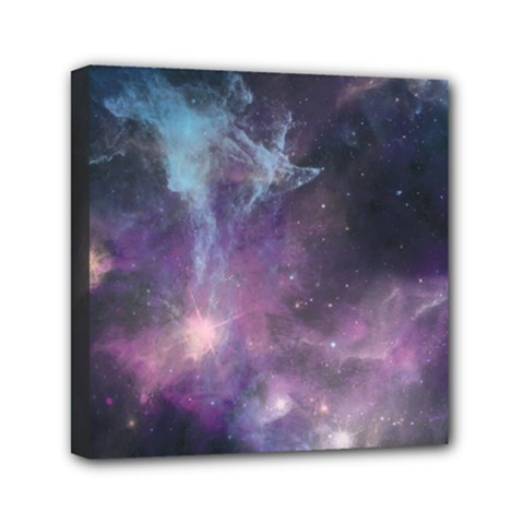 Blue Galaxy  Mini Canvas 6  X 6  by DanaeStudio