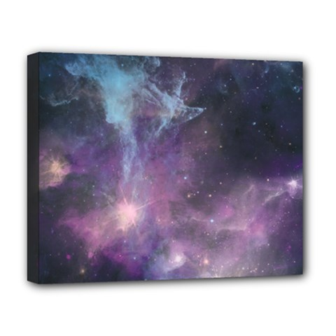 Blue Galaxy  Deluxe Canvas 20  X 16   by DanaeStudio