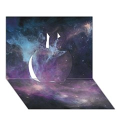 Blue Galaxy  Apple 3d Greeting Card (7x5) by DanaeStudio