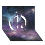 Blue Galaxy  Peace Sign 3D Greeting Card (7x5)