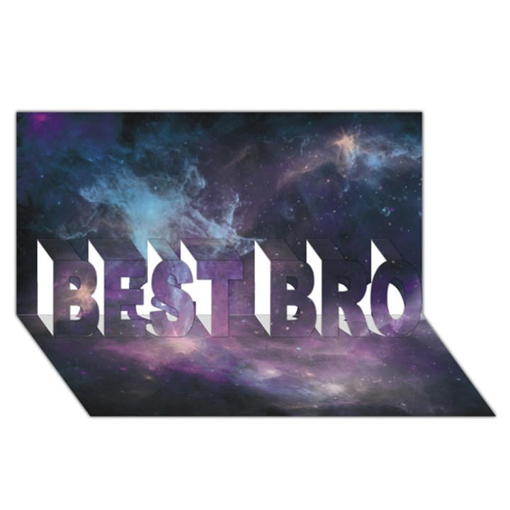 Blue Galaxy  BEST BRO 3D Greeting Card (8x4)