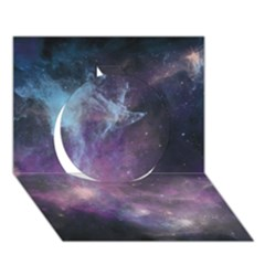 Blue Galaxy  Circle 3d Greeting Card (7x5)