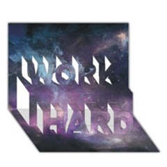 Blue Galaxy  Work Hard 3d Greeting Card (7x5)