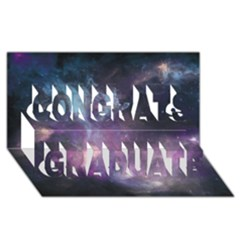 Blue Galaxy  Congrats Graduate 3d Greeting Card (8x4)