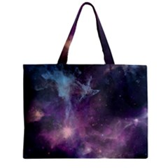 Blue Galaxy  Zipper Mini Tote Bag by DanaeStudio