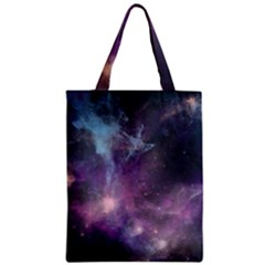 Blue Galaxy  Zipper Classic Tote Bag by DanaeStudio