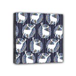 Geometric Deer Retro Pattern Mini Canvas 4  x 4