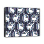 Geometric Deer Retro Pattern Canvas 10  x 8