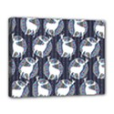 Geometric Deer Retro Pattern Canvas 14  x 11  View1
