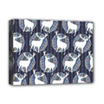 Geometric Deer Retro Pattern Deluxe Canvas 16  x 12