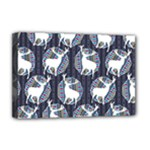 Geometric Deer Retro Pattern Deluxe Canvas 18  x 12