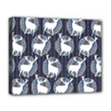 Geometric Deer Retro Pattern Deluxe Canvas 20  x 16   View1