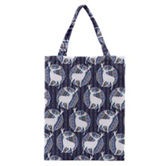 Geometric Deer Retro Pattern Classic Tote Bag by DanaeStudio