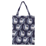 Geometric Deer Retro Pattern Classic Tote Bag