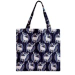 Geometric Deer Retro Pattern Zipper Grocery Tote Bag