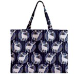 Geometric Deer Retro Pattern Zipper Mini Tote Bag