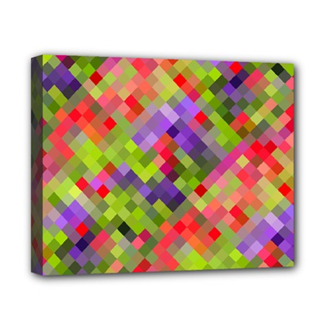 Colorful Mosaic Canvas 10  X 8  by DanaeStudio