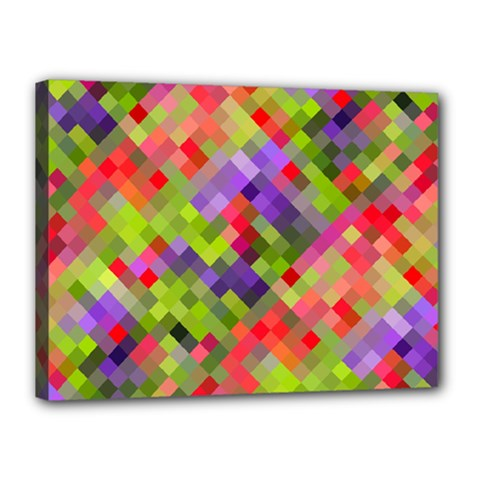 Colorful Mosaic Canvas 16  X 12  by DanaeStudio
