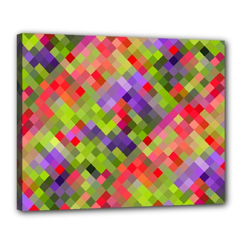Colorful Mosaic Canvas 20  X 16  by DanaeStudio