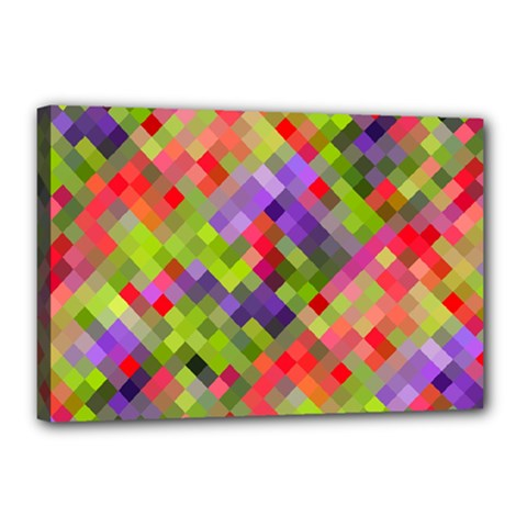Colorful Mosaic Canvas 18  X 12  by DanaeStudio