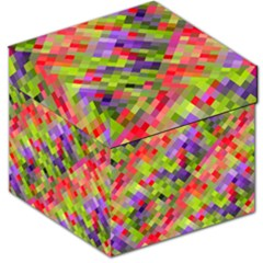 Colorful Mosaic Storage Stool 12   by DanaeStudio