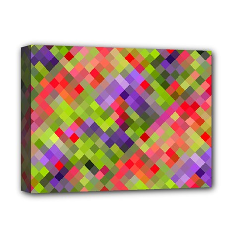 Colorful Mosaic Deluxe Canvas 16  X 12   by DanaeStudio