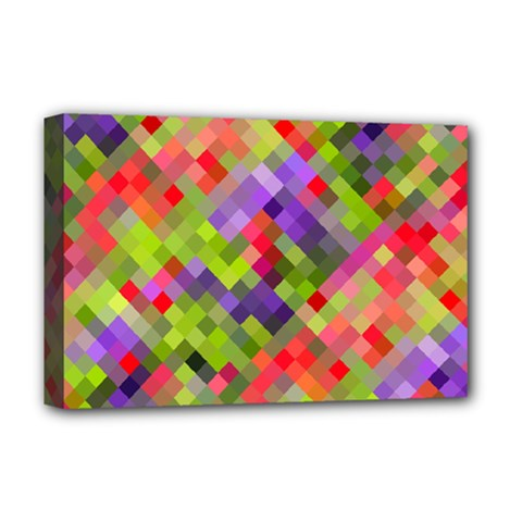Colorful Mosaic Deluxe Canvas 18  X 12   by DanaeStudio