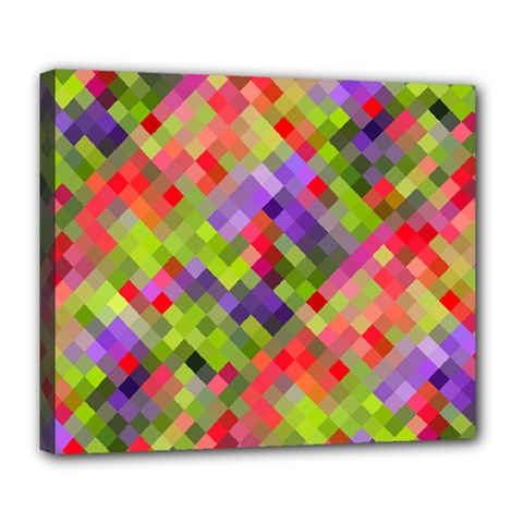 Colorful Mosaic Deluxe Canvas 24  X 20