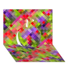 Colorful Mosaic Apple 3d Greeting Card (7x5) by DanaeStudio