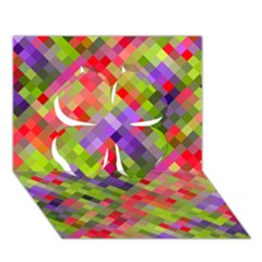 Colorful Mosaic Clover 3d Greeting Card (7x5)