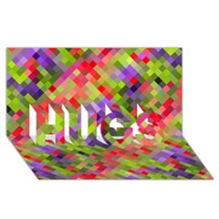Colorful Mosaic Hugs 3d Greeting Card (8x4) by DanaeStudio
