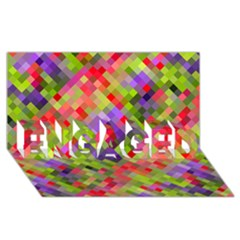Colorful Mosaic Engaged 3d Greeting Card (8x4)