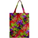 Colorful Mosaic Zipper Classic Tote Bag View1