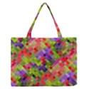 Colorful Mosaic Medium Zipper Tote Bag View1