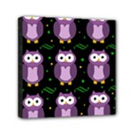 Halloween purple owls pattern Mini Canvas 6  x 6