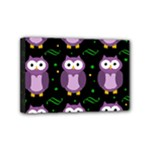 Halloween purple owls pattern Mini Canvas 6  x 4