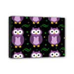 Halloween purple owls pattern Mini Canvas 7  x 5