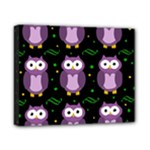 Halloween purple owls pattern Canvas 10  x 8