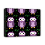Halloween purple owls pattern Deluxe Canvas 16  x 12