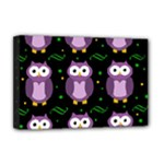 Halloween purple owls pattern Deluxe Canvas 18  x 12