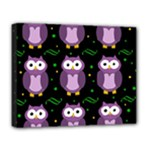 Halloween purple owls pattern Deluxe Canvas 20  x 16