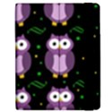 Halloween purple owls pattern Apple iPad Mini Flip Case View2
