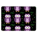 Halloween purple owls pattern Samsung Galaxy Tab 8.9  P7300 Flip Case View1