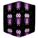Halloween purple owls pattern Samsung Galaxy Tab 8.9  P7300 Flip Case View4