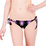 Halloween purple owls pattern Bikini Bottom