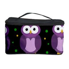 Halloween purple owls pattern Cosmetic Storage Case